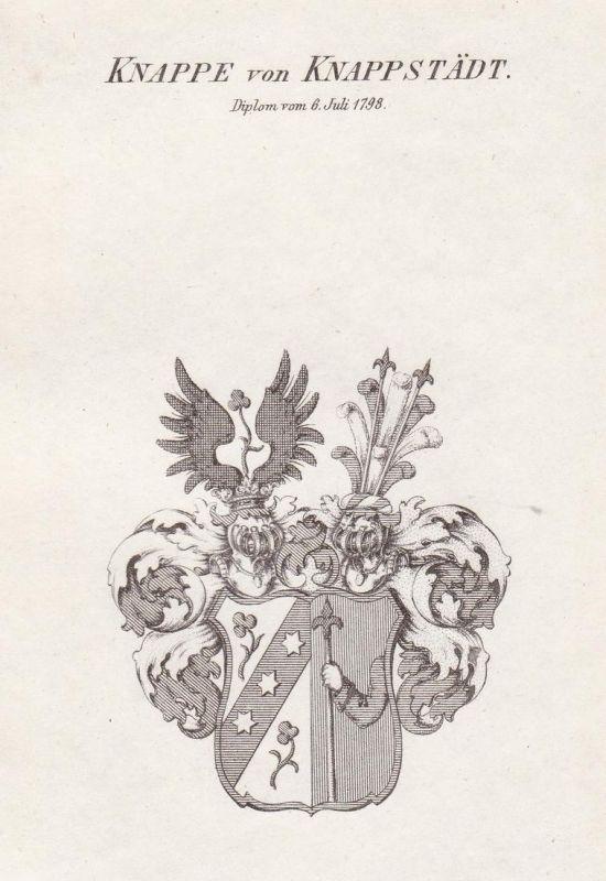 Knappe von Knappstädt. Diplom vom 6 Juli 1798 - Knappe von Knappstädt Knappstaedt Wappen Adel coat of arms her