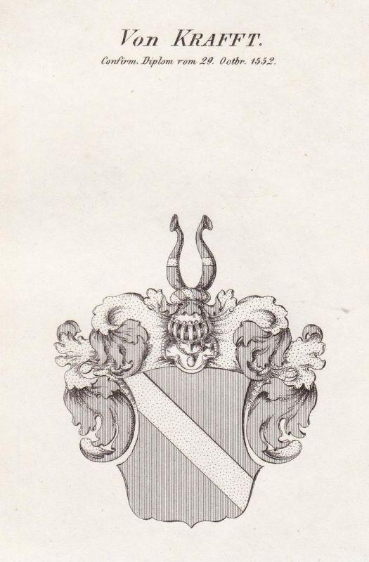 Von Krafft. Confirm. Diplom vom 29 Octbr. 1552 - Kraft Krafft Wappen Adel coat of arms heraldry Heraldik Kupfe