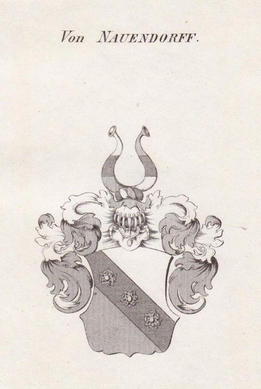 Von Nauendorff - Naundorf Nauendorf Thüringen Wappen Adel coat of arms heraldry Heraldik Kupferstich antique p 0
