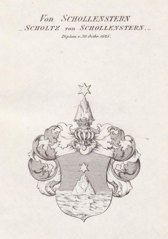 Von Schollenstern - Scholtz von Schollenstern. Diplom v 30 Octbr. 1625 - Schollenstern Scholtz Scholz von Scho 0