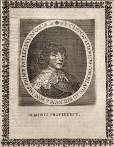 Carolus Ludovicus - Karl I. Ludwig Pfalzgraf bei Rhein gravure Portrait Kupferstich copper engraving antique p