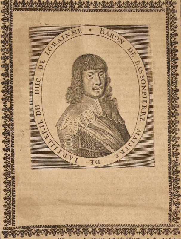 Baron de Bassonpierre - Francois de Bassompierre Lothringen gravure Portrait Kupferstich copper engraving anti 0
