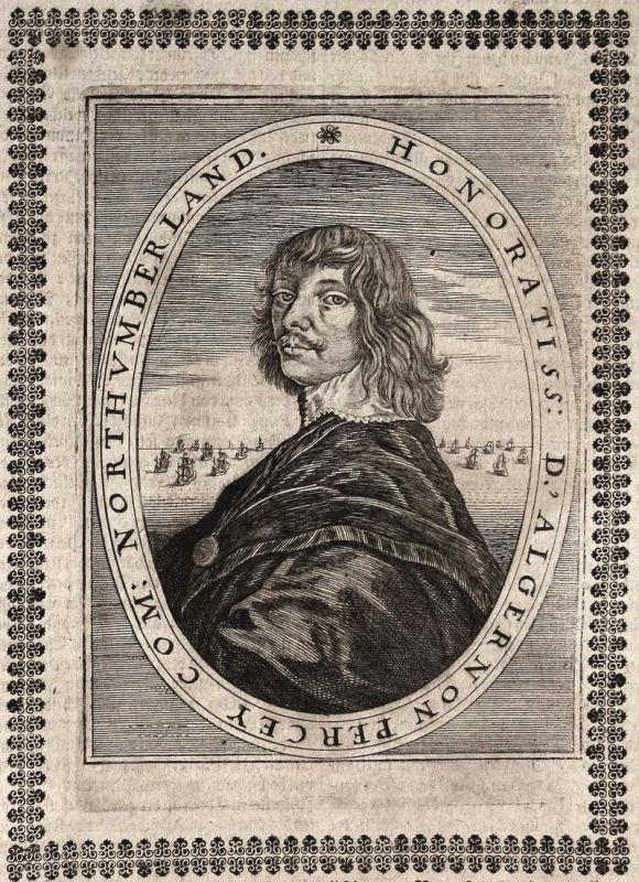 D'Algernon Percey - Algernon Percy earl Graf Northumberland gravure Portrait Kupferstich copper engraving anti