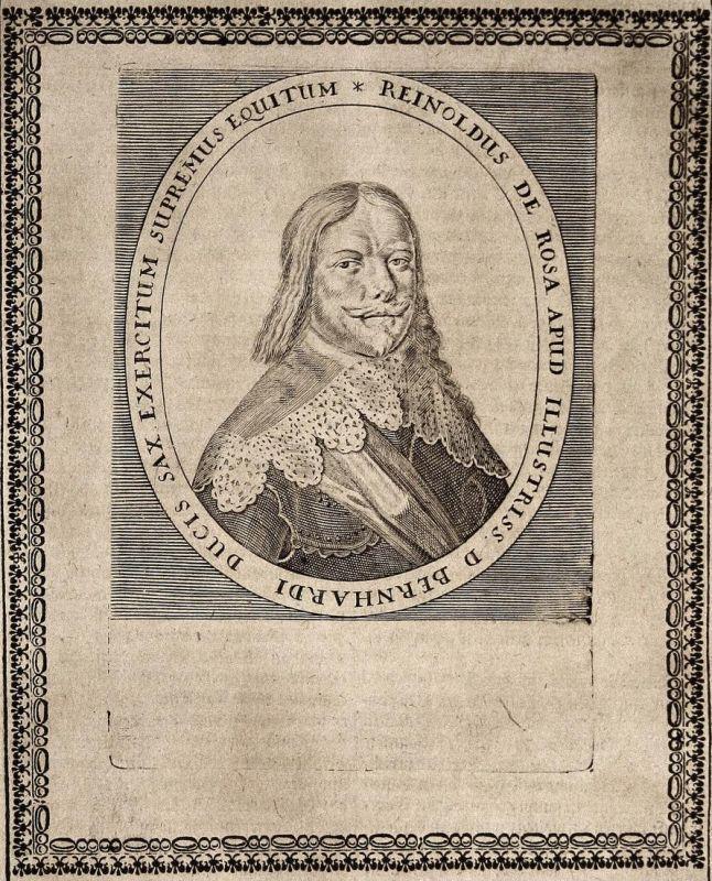 Reinoldus de Rosa - Reinhold von Rosen General general Elsass gravure Portrait Kupferstich copper engraving an 0
