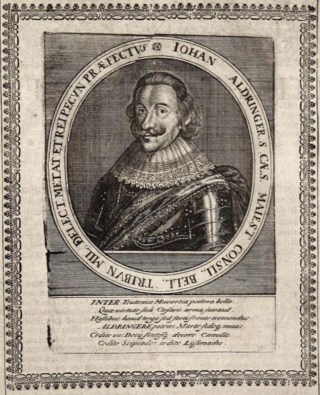 Iohan Aldringer - Johann von Aldringen Feldmarschall field marshal gravure Portrait Kupferstich copper engravi 0
