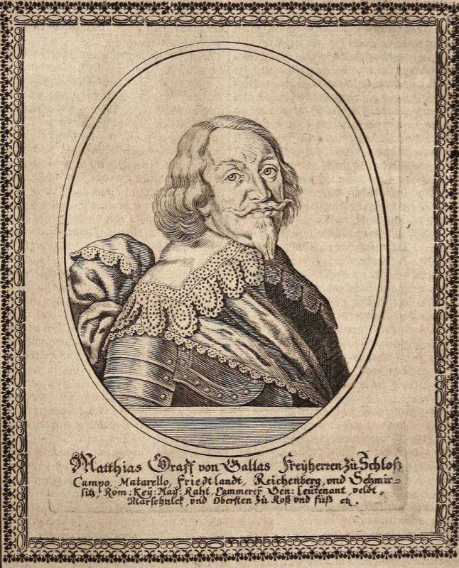 Matthias Graff von Gallas - Matthias Gallas Matteo Gallasso Graf earl gravure Portrait Kupferstich copper engr