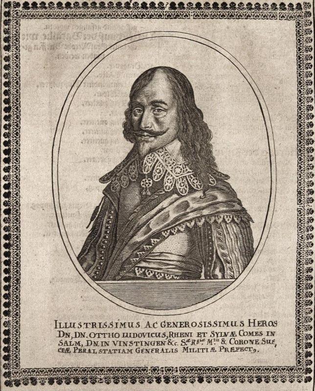 Ottho Ludovicus - Otto Ludwig Salm-Kyrburg-Mörchingen Gouverneur gravure Portrait Kupferstich copper engraving 0