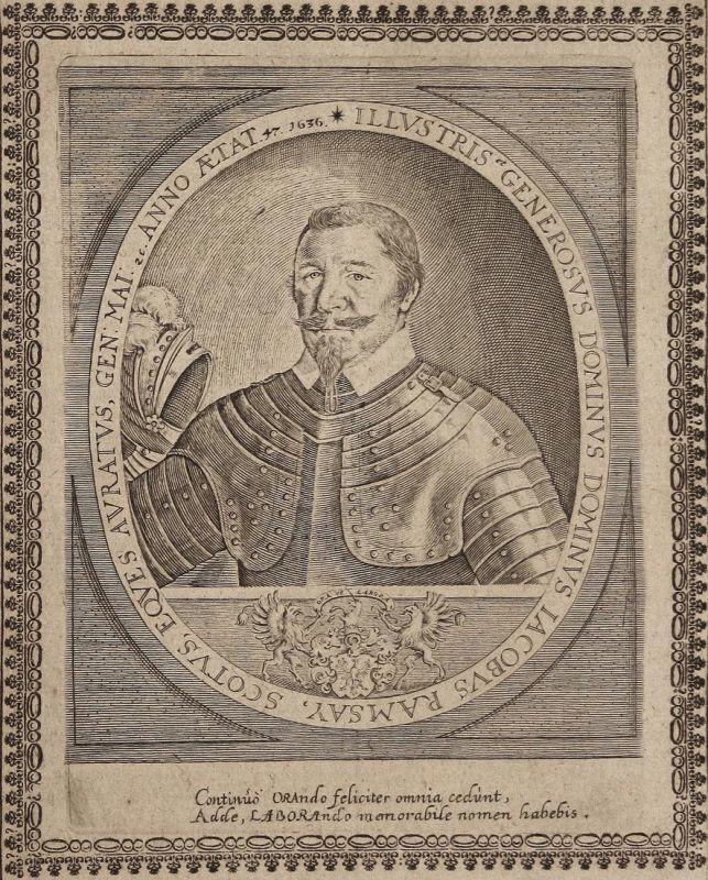 Iacobus Ramsay - Jacob Ramsay Jakob Scotland gravure Portrait Kupferstich copper engraving antique print 0