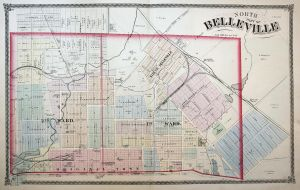 North Part of Belleville - Illinois North Belleville St. Clair County map America USA United States