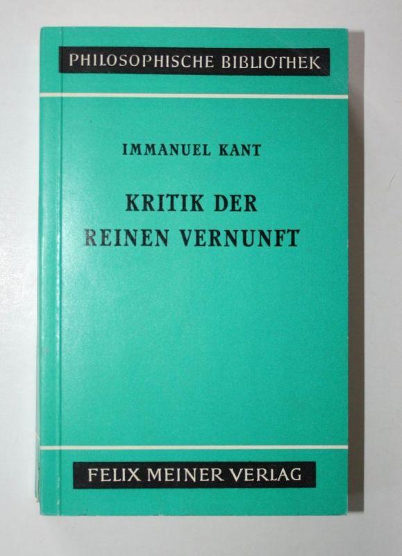 Kritik der reinen Vernunft.