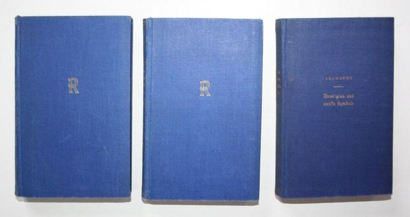Urreligion und antike Symbole. Systematisch angeordnete Auswahl aus seinen Werken in drei Bänden. 3 Bände.