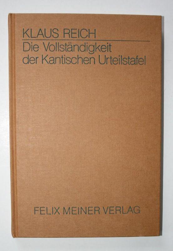 Die Vollständigkeit der Kantischen Urteilstafel. 3. Auflage.