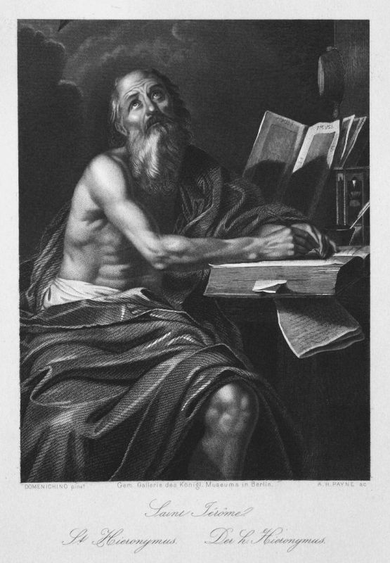 Saint Jerome. / St. Hieronymus. / Der hl. Hieronymus. - Hieronymus Heiliger holy Theologe Kirchenvater fathers