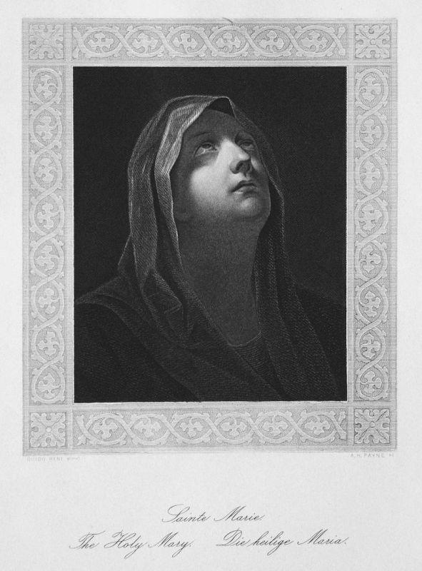 Sainte Marie. / The Holy Mary. / Die heilige Maria. - Maria Mutter Jesu Jesus mother Mary Portrait portrait St