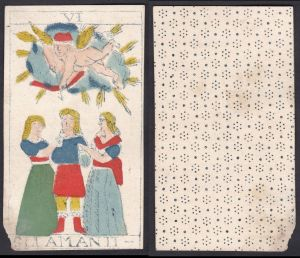 Gli Amanit - Original 18th century playing card / carte a jouer / Spielkarte - Tarot