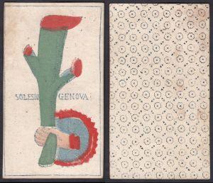 Solesio Genova - Original 18th century playing card / carte a jouer / Spielkarte - Tarot