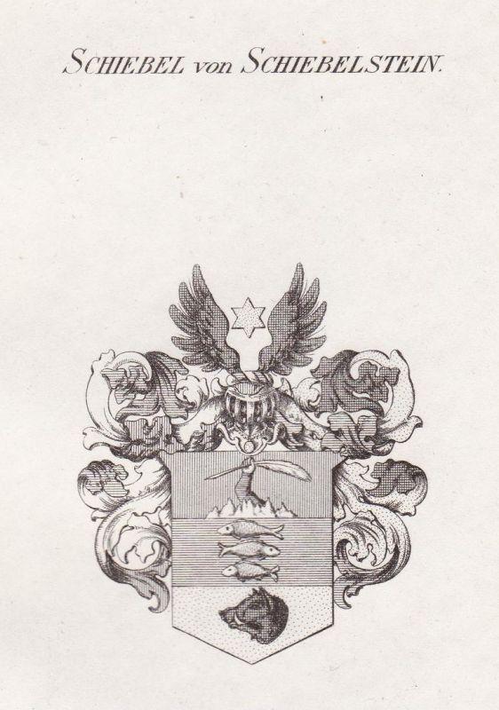 Schiebel von Schiebelstein - Schiebel Schiebelstein Wappen Adel coat of arms heraldry Heraldik Kupferstich ant