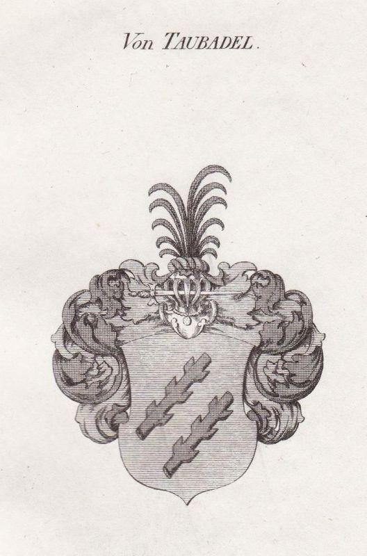 Von Taubadel - Taubadel Meißen Wappen Adel coat of arms heraldry Heraldik Kupferstich antique print