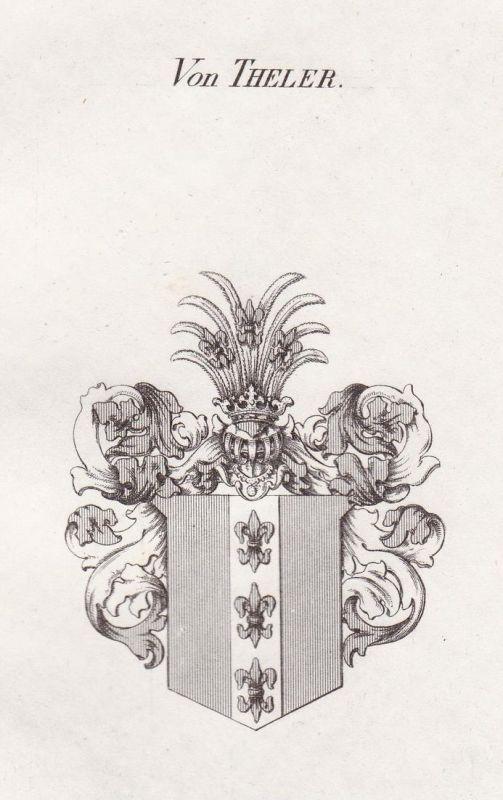 Von Theler - Theler Meißen Wappen Adel coat of arms heraldry Heraldik Kupferstich antique print