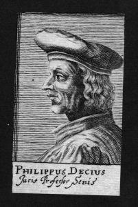 Filippo Decio Decius Jurist lawyer Italien Italy Kupferstich Portrait
