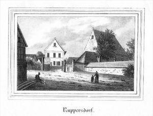 Ruppersdorf Herrnhut Görlitz Lithographie