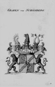 Schönberg Wappen Adel coat of arms heraldry Heraldik crest Kupferstich