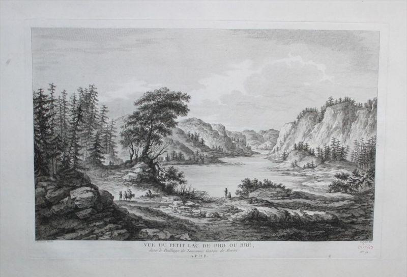 Lac de Bret Kanton Waadt gravure Kupferstich Zurlauben