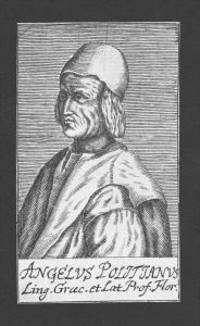 Angelo Poliziano Humanist Professor Firenze Florenz Kupferstich Portrait