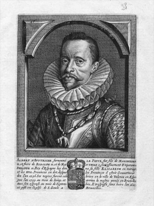 Albrecht VII. v. Österreich Nederland Portrait Kupferstich gravure