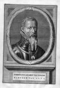 Fernando Alvarez de Toledo Herzog engraving Kupferstich Portrait