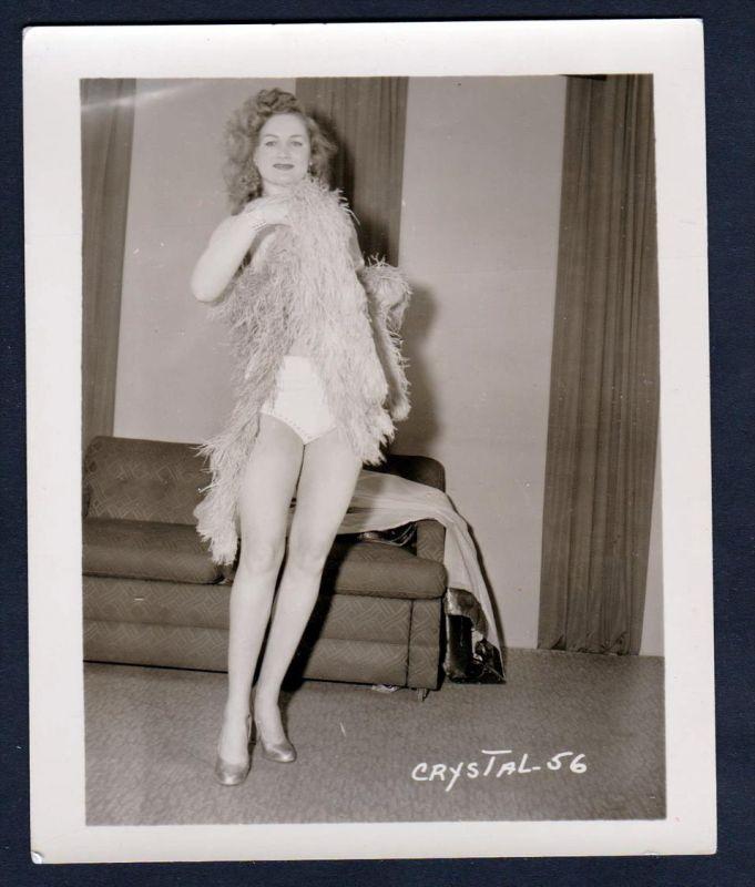 Unterwäsche lingerie Erotik nude Crystal vintage Dessous pin up Foto photo