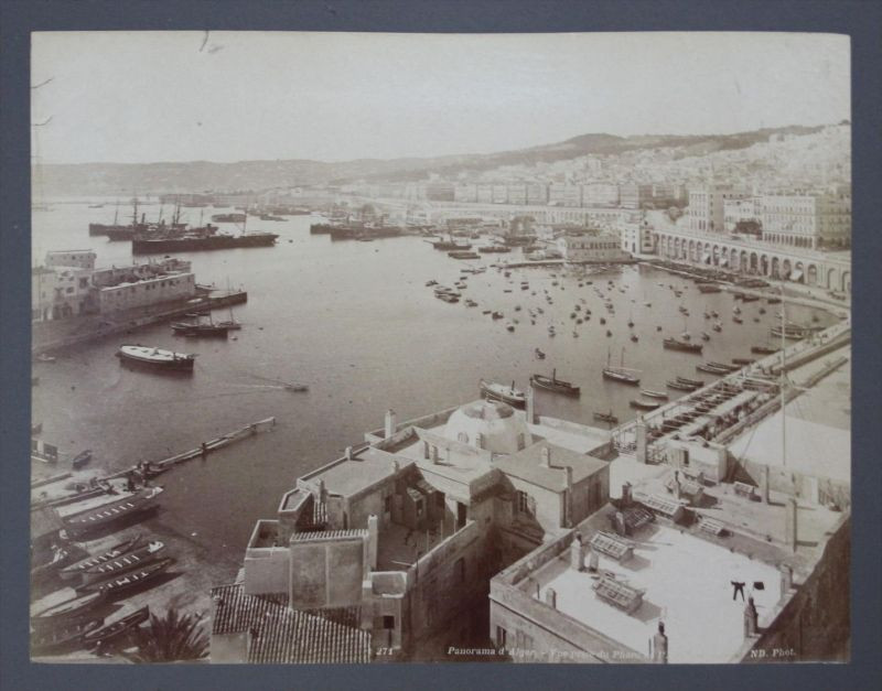Algier Algiers Harbour Neurdein Original Foto photo vintage