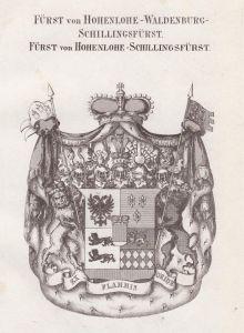 Fürst von Hohenlohe-Waldenburg-Schillingsfürst. Fürst von Hohenlohe-Schillingsfürst - Hohenlohe Waldenburg Sch