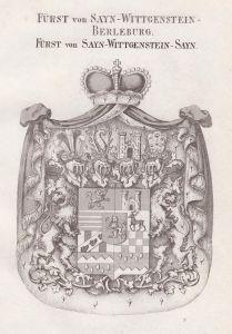 Fürst von Sayn-Wittgenstein-Berleburg. Fürst von Sayn-Wittgenstein-Sayn - Sayn-Wittgenstein Berleburg Wappen A