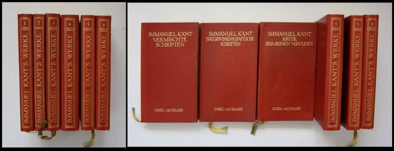 Immanuel Kants sämtliche Werke in sechs Bänden - 6. Bände - Leder - Dünndruck