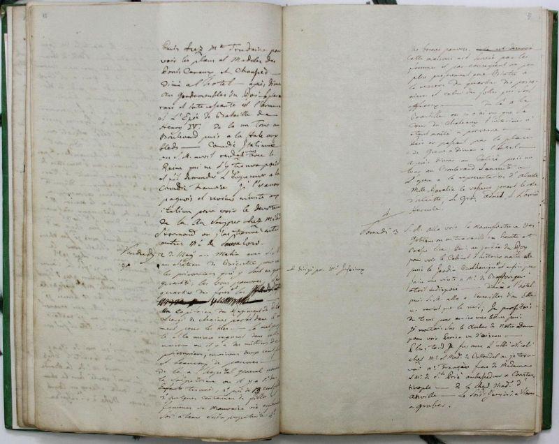 Journal de mon voyage en France avec l'Empereur Joseph en 1777. Manuscript. Handschrift. 3