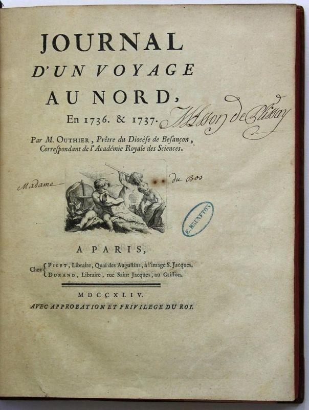 Journal de mon voyage en France avec l'Empereur Joseph en 1777. Manuscript. Handschrift. 4