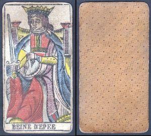 Beine d'Epee - Original 18th century playing card / carte a jouer / Spielkarte - Tarot