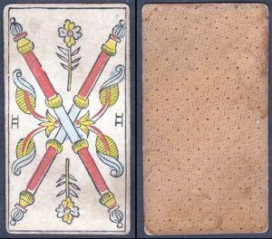 II - Original 18th century playing card / carte a jouer / Spielkarte - Tarot
