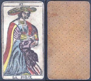La Force - Original 18th century playing card / carte a jouer / Spielkarte - Tarot