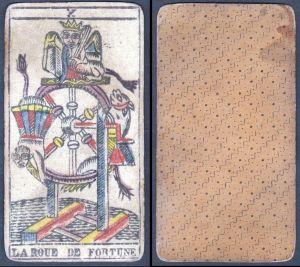 La Roue de Fortune - Original 18th century playing card / carte a jouer / Spielkarte - Tarot