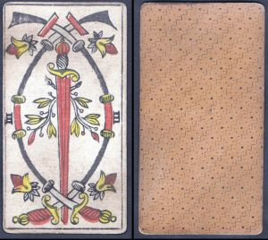 III - Original 18th century playing card / carte a jouer / Spielkarte - Tarot