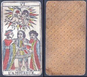 L'Amoureux - Original 18th century playing card / carte a jouer / Spielkarte - Tarot