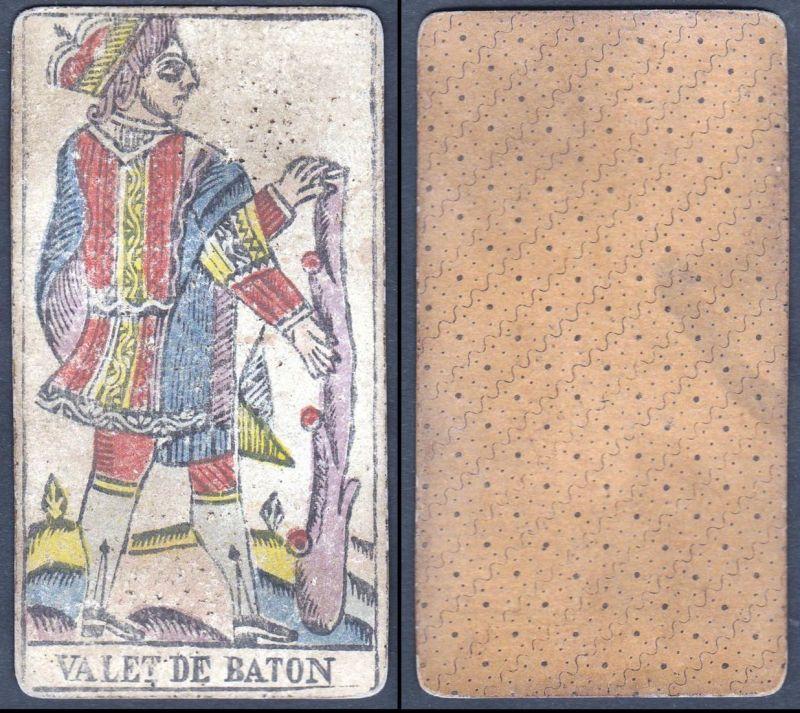 Valet de Baton - Original 18th century playing card / carte a jouer / Spielkarte - Tarot