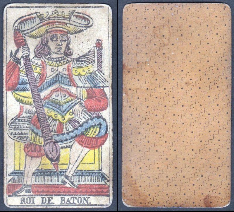 Roi de Baton - Original 18th century playing card / carte a jouer / Spielkarte - Tarot