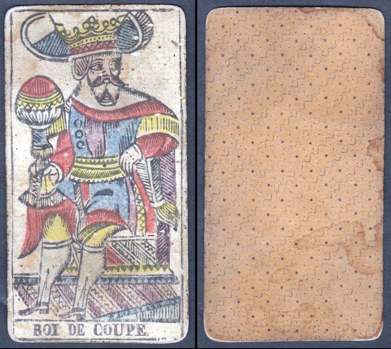 Roi de Coupe - Original 18th century playing card / carte a jouer / Spielkarte - Tarot