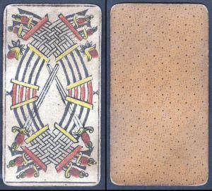 X - Original 18th century playing card / carte a jouer / Spielkarte - Tarot