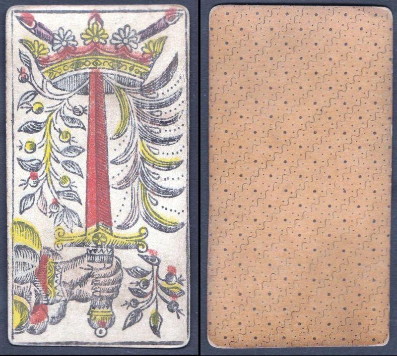 Original 18th century playing card / carte a jouer / Spielkarte - Tarot 0