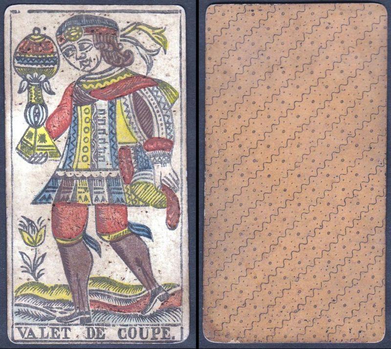 Valet de Coupe - Original 18th century playing card / carte a jouer / Spielkarte - Tarot