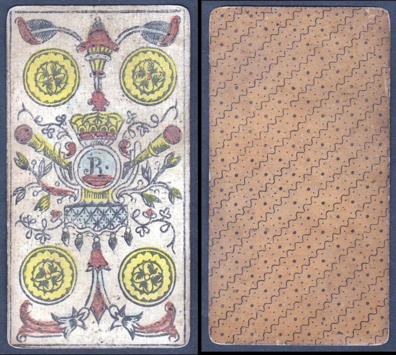 Original 18th century playing card / carte a jouer / Spielkarte - Tarot 0